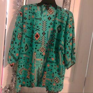 Tribal Short Sleeve Kimono
